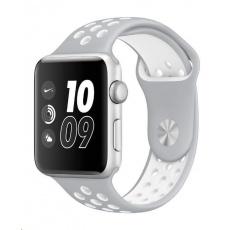eses Silikonový řemínek 38mm/40mm S/M/L stříbrný/bílý pro Apple Watch