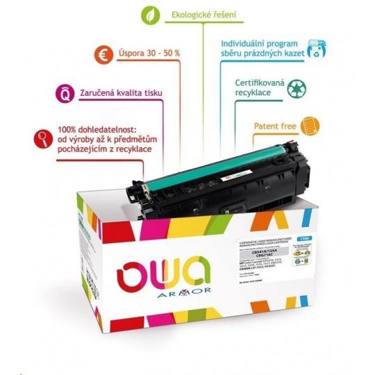 OWA Armor toner pro HP Color Laserjet Ese M880, 32000 Stran, CF301A, modrá/cyan