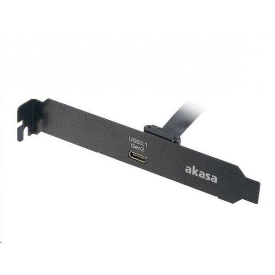 AKASA adaptér MB interní, USB 3.1, PCI závorka s Type-C konektorem, 50 cm